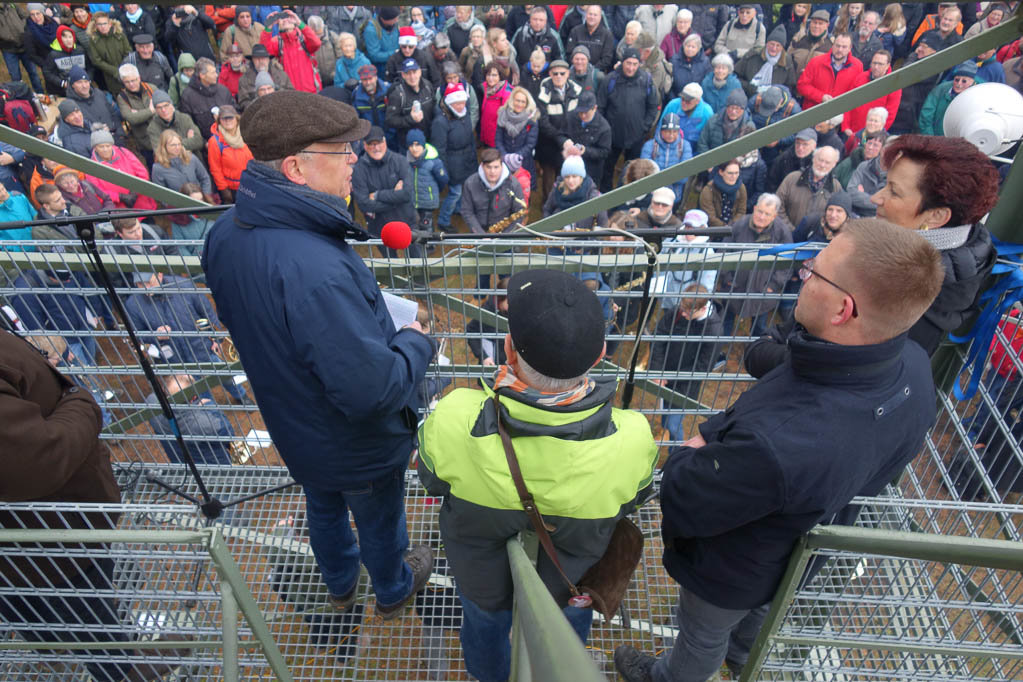 Ministerpräsident Stephan Weil hält die Turmrede