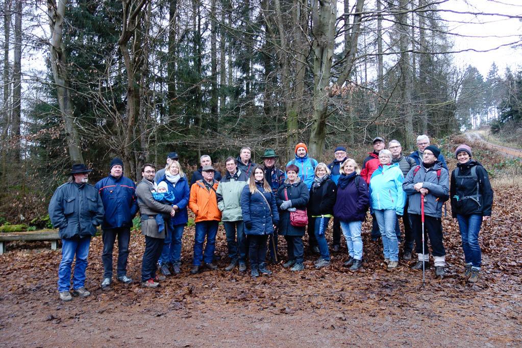 Unsere Wandergruppe am Roten Fuchs