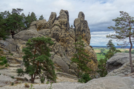 Die Felsformation, die Hamburger Wappen genannt wird