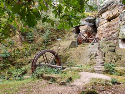 Regensteinmühle mit den zwei Wasserrädern