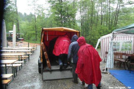 05.2013: Aufbau für das Meilerfest