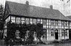 Das Wohnhaus des Kleinkothof der Unteren Mühle um 1910