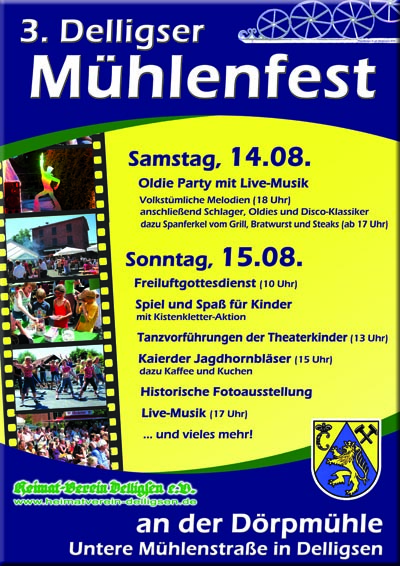Plakat Mühlenfest 2010