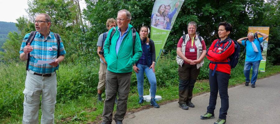Thomas Slappa von der Ge-Tour aus Bad Münder begrüßte die Teilnehmer